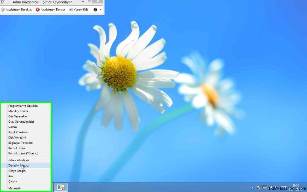 Windows8 denetim masası